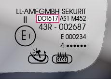 DOT-Nummer Autoglas Stempel - Glaslexikon